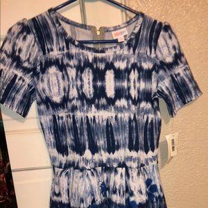 Blue short sleeved dress